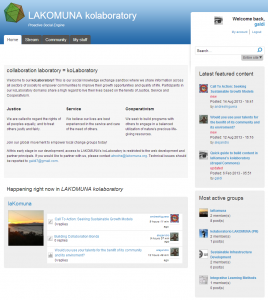 drupal Commons Homepage of lakomuna